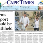 protester-leaves-chappies-site-in-handcuffs