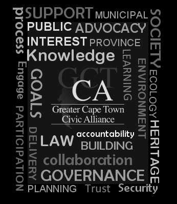 Key focal areas of the Greater Cape Town Civic Alliance (GCTCA)